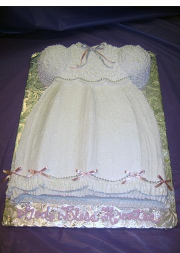 Girls Baptism Dress Cake