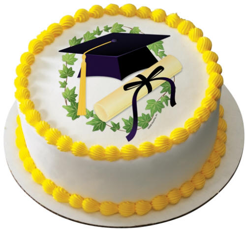 Round Graduation Cake Images : Herman s Bakery and Deli - Graduation Cakes Gallery