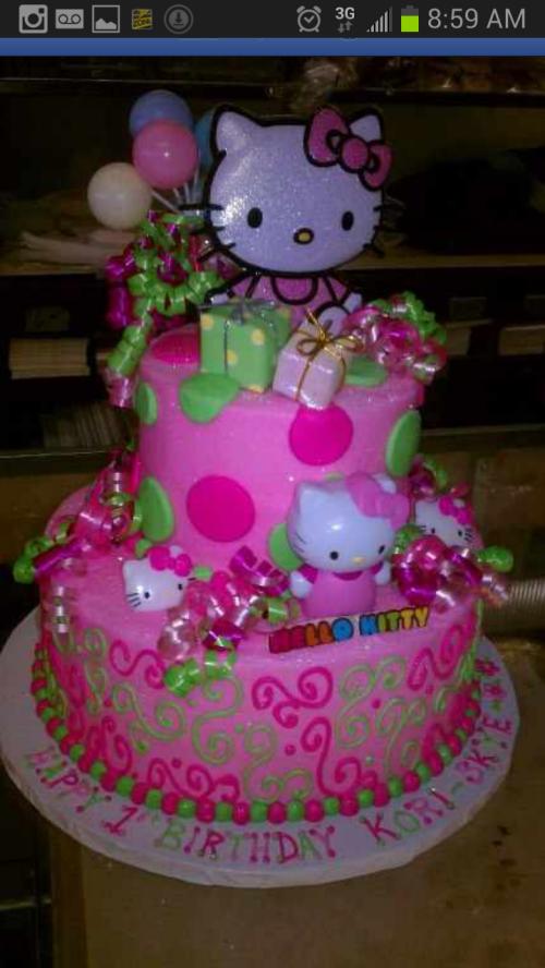 25 30 Helloo: 2 Tier Hello Kitty Cake