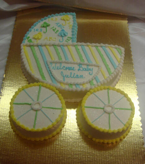 hermans bakery and deli baby shower decorated cake galley