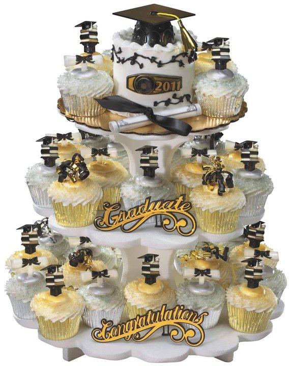 Cupcake Cake Designs For Graduation : Graduation Cupcake Stand. Graduation Cupcake Holder.