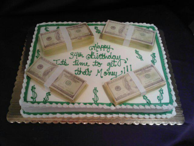 Herman 39 s bakery and deli adult birthday cakes - Money cake decorations ...