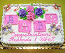 Good Baby Shower Icing Blocks Cake
