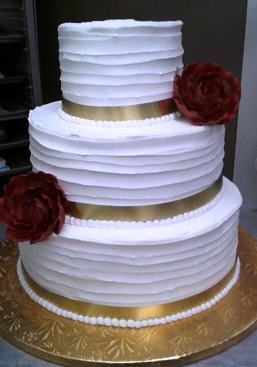 Line Texture Cake : Sample wedding cakes